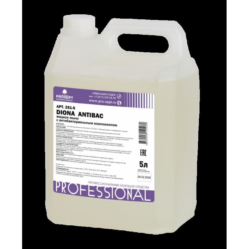 Жидкое мыло PROSEPT Diona Antibac 5 л с антибактериальным компонентом