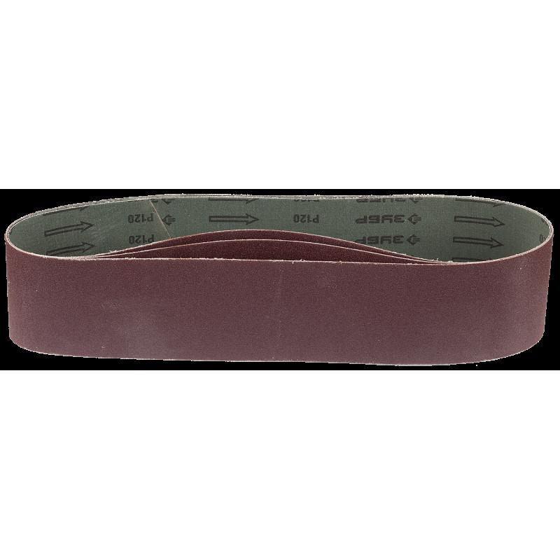 Лента шлифовальная ЗУБР 35548-120 универсальная бесконечная для ЗШС-500, основа-х/б ткань, 100х914 мм, Р120, 3 шт