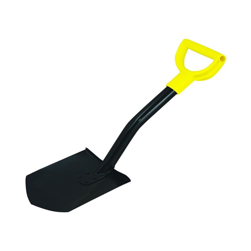 Штыковая лопата укороченная Biber 99214 с металлическим черенком