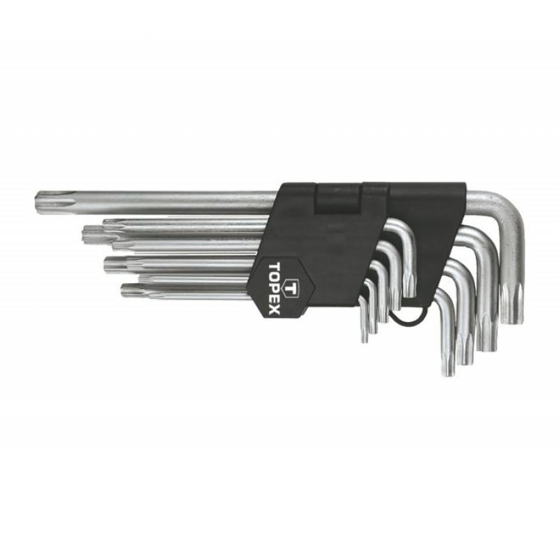 Набор ключей TOPEX 35D961, Torx T10-T50, 9 шт