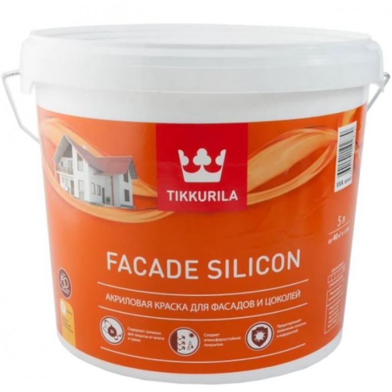 Краска TIKKURILA FACADE SILICON силикон модифицированная для фасадов, глубокоматовая, база A, 5 л