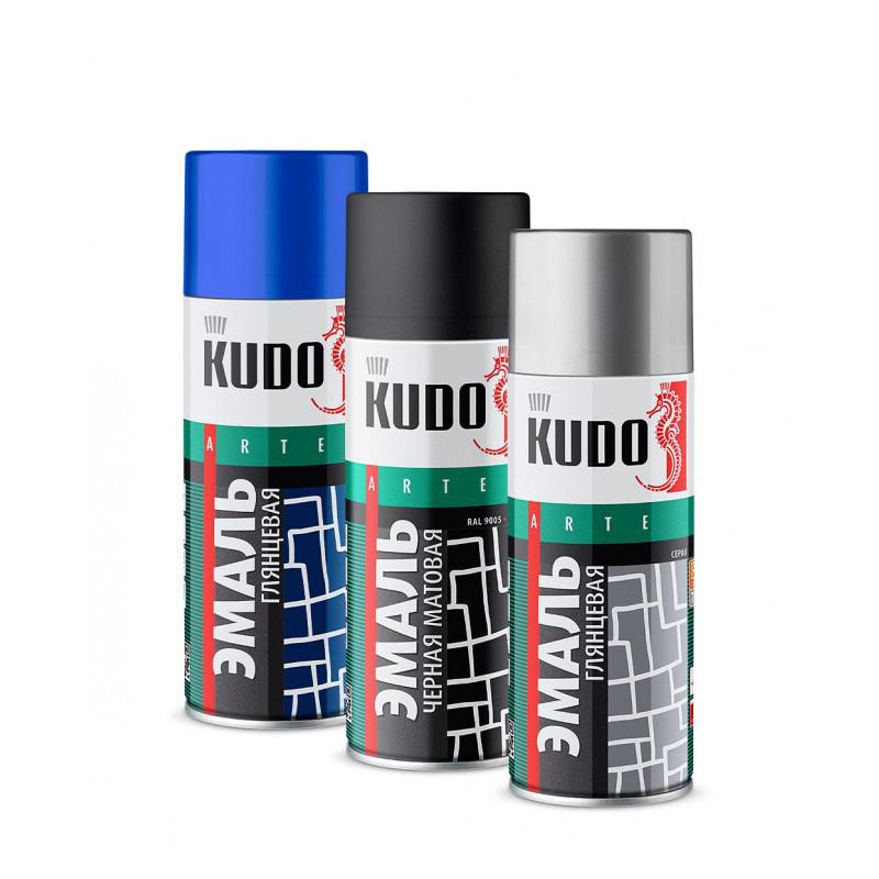 Эмаль KUDO KU-1003 универсальная алкидная «3P» TECHNOLOGY красная-1