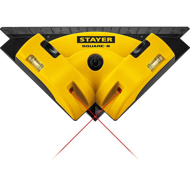 Лазерный угольник для кафеля STAYER SQUARE-8