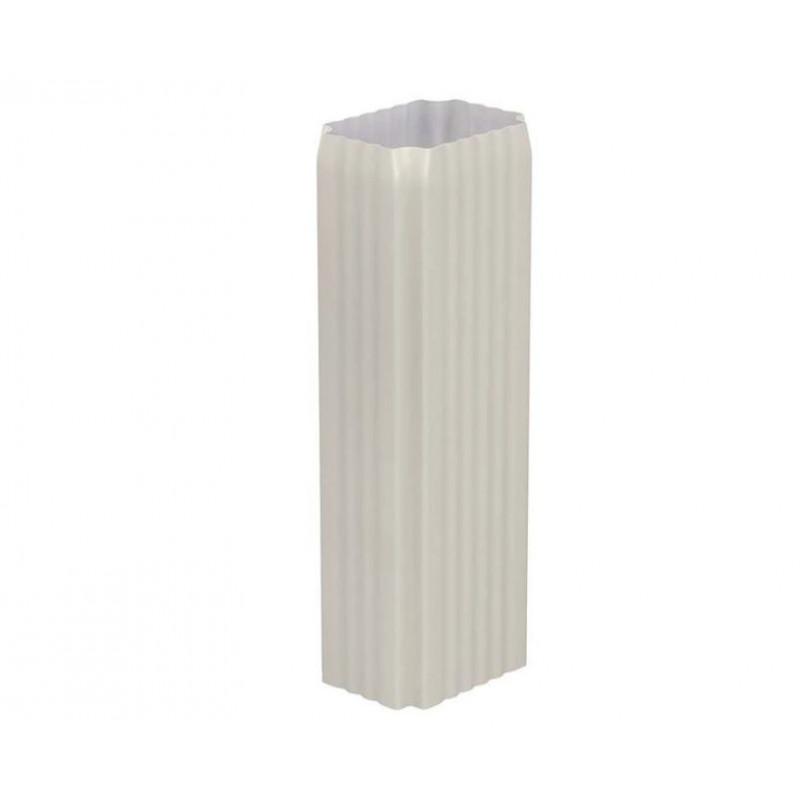 Труба водосточная Металл Профиль Бюджет 76x102x2000, белая (RAL 9003)