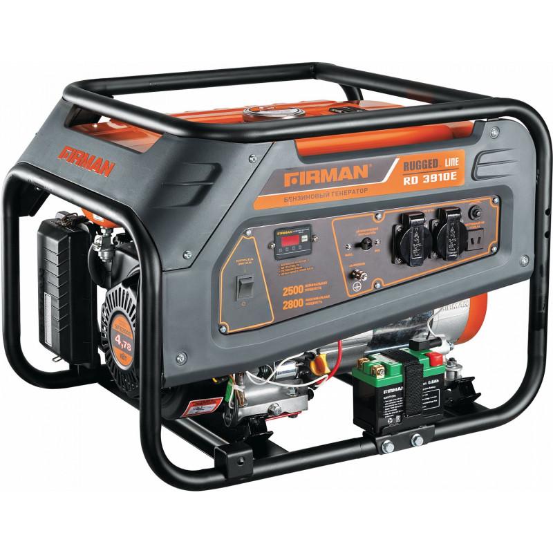 Генератор бензиновый FIRMAN RD3910E 2,5/2,8 кВт, стартер
