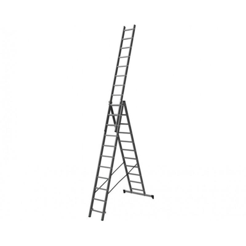 Трехсекционная лестница универсальная ПРОФИ 3х11 ст