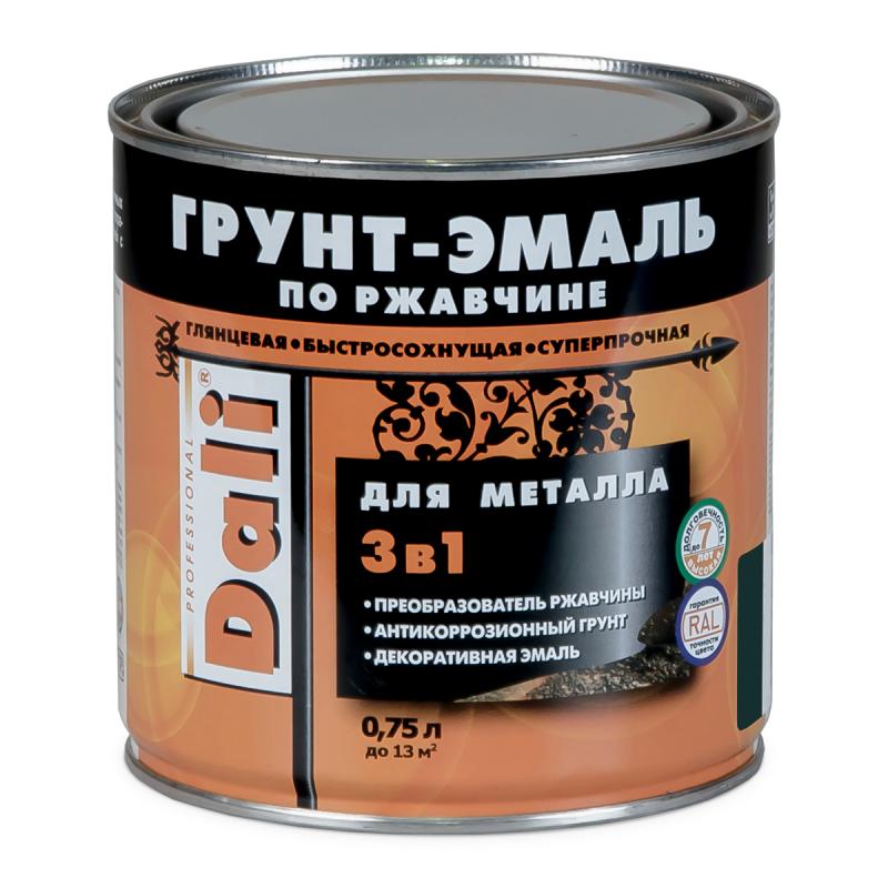 Грунт-эмаль по ржавчине Dali 3 в 1 коричневая RAL 8017 0.75 л