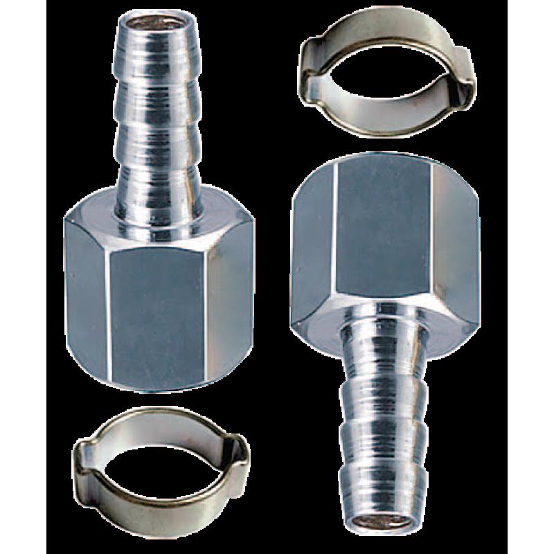 """Переходник Fubag 180430 B 1/4""""M на елочку 6 мм с обжимным кольцом 6x11 мм, блистер 2 шт"""