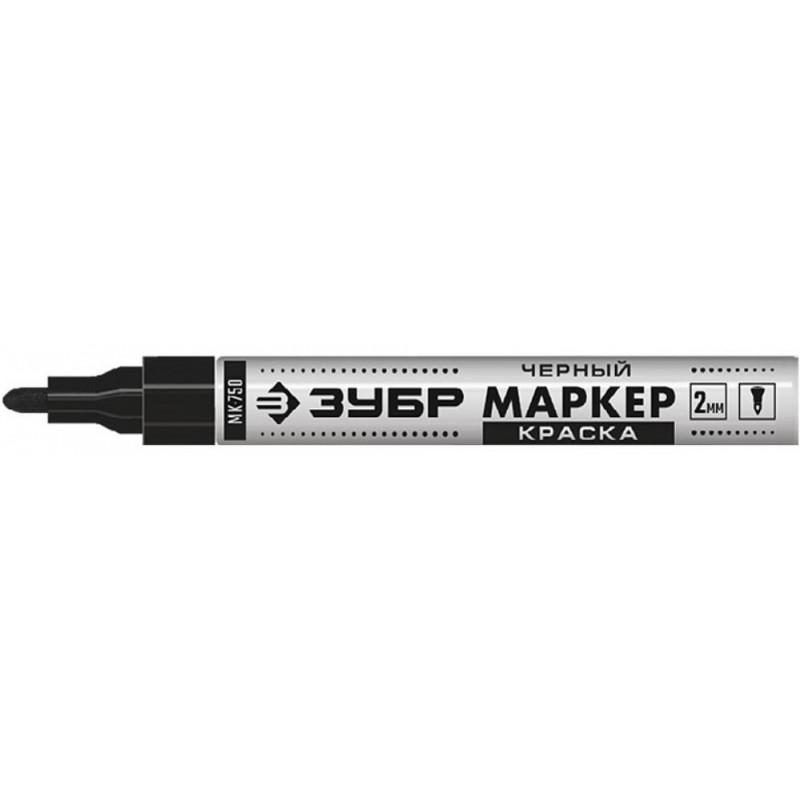 Маркер-краска, МК-750 черный, круглый наконечник ЗУБР 06325-2