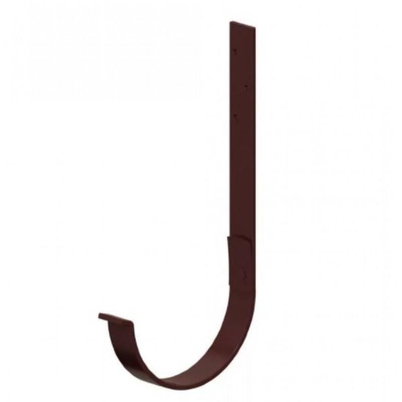 Держатель желоба Металл Профиль D125х280 GS, коричневый шоколад (RAL 8017)