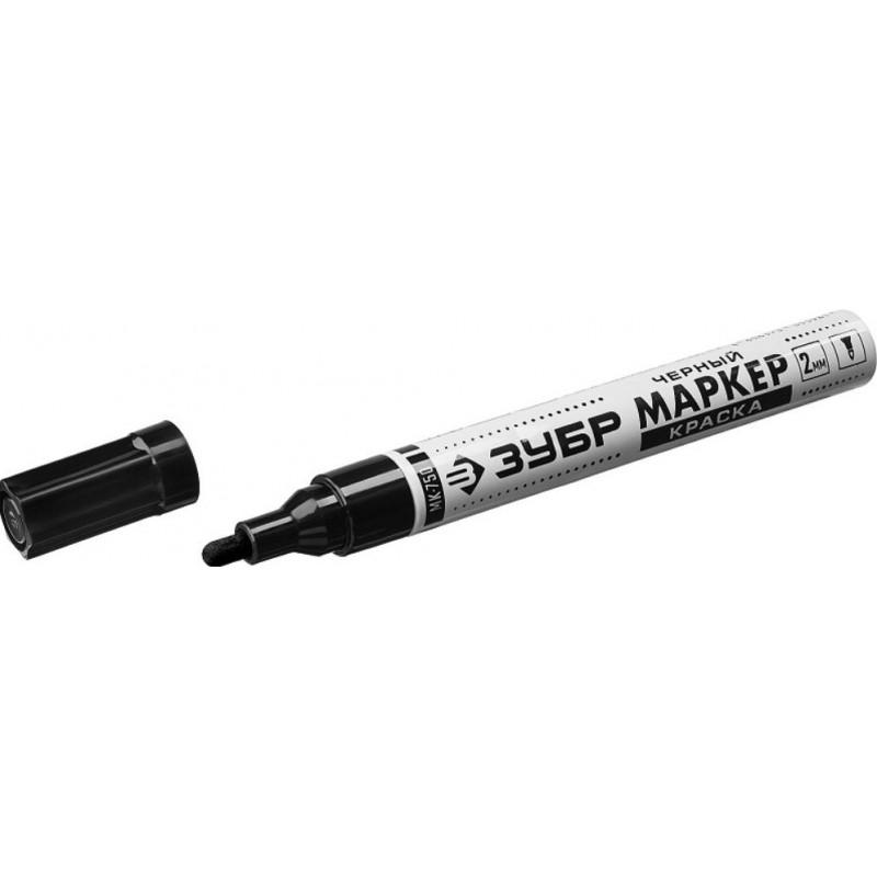 Маркер-краска, МК-750 черный, круглый наконечник ЗУБР 06325-2-1