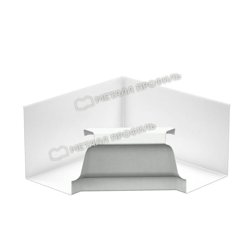Угол желоба внутренний Металл Профиль Бюджет 120x86, белый (RAL 9003)