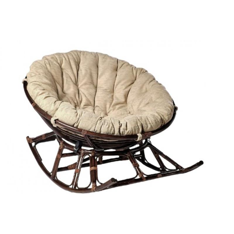 Кресло-качалка Папасан Харли D100 НР100-МТ001 на полозьях коньячный/бежевый
