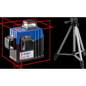 Лазерный уровень 3D + штатив (3х360 20/70м. точн. +/- 0,3мм) ЗУБР