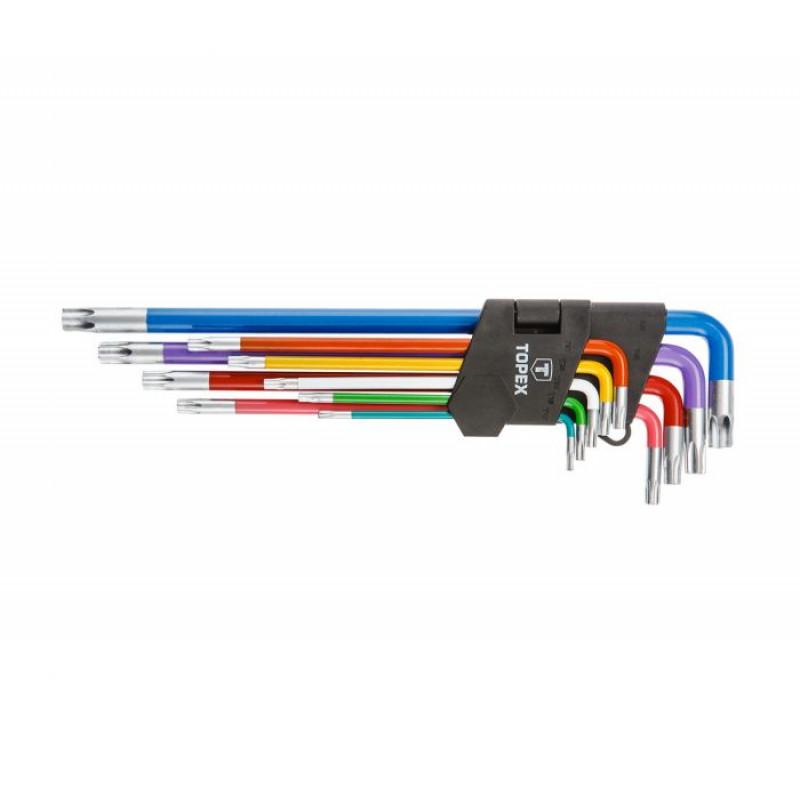 Набор ключей шестигранных TOPEX 35D969 Torx T10-T50 мм, 9 шт