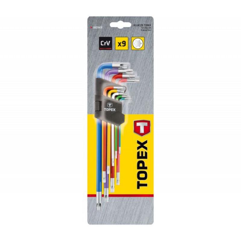 Набор ключей шестигранных TOPEX 35D969 Torx T10-T50 мм, 9 шт-1