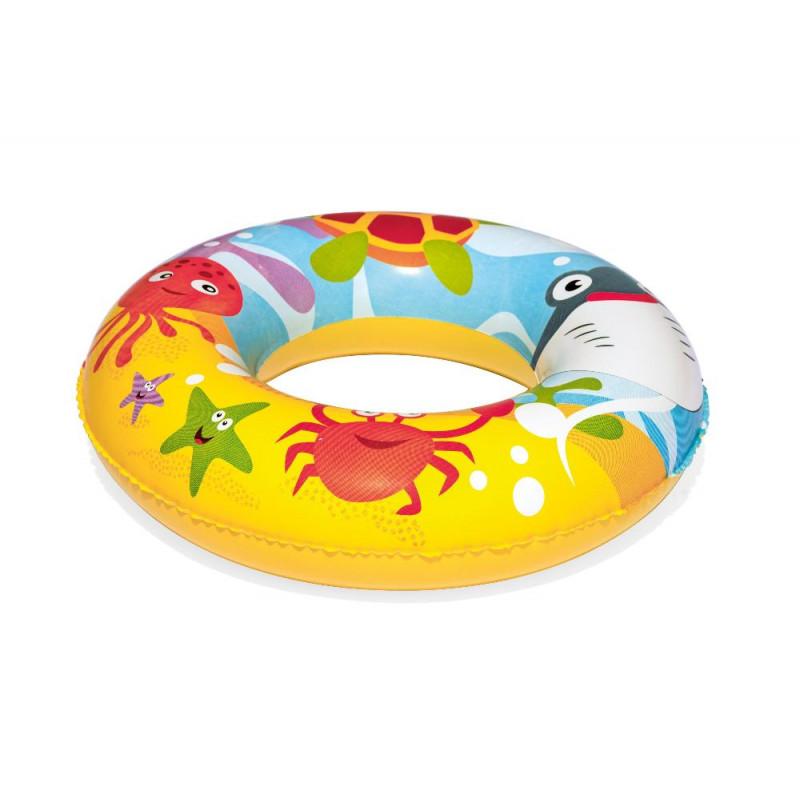 Детский надувной бассейн Bestway 51124 BW 122х20 см с мячом и кругом, 137 л, от 2 лет-1