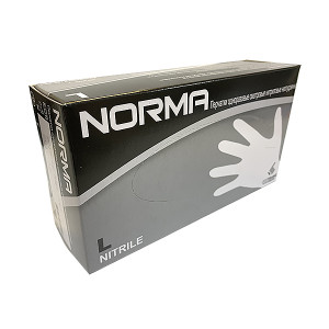 Перчатки смотровые нитриловые NORMA, размер L, черные, 100 шт