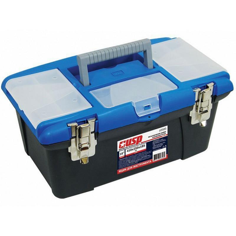 Ящик для инструмента 410x250x185 мм, металлические замки, USP 65585