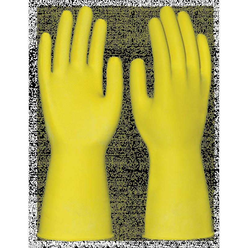 Перчатки хозяйственные латекс (ХL)