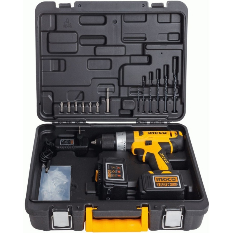 Аккумуляторный ударный шуруповерт 18 В INGCO CIDLI228180-2