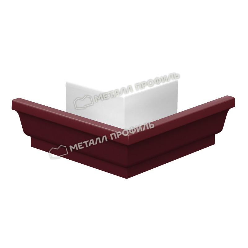 Угол желоба наружный Металл Профиль Бюджет 120x86, красное вино (RAL 3005)