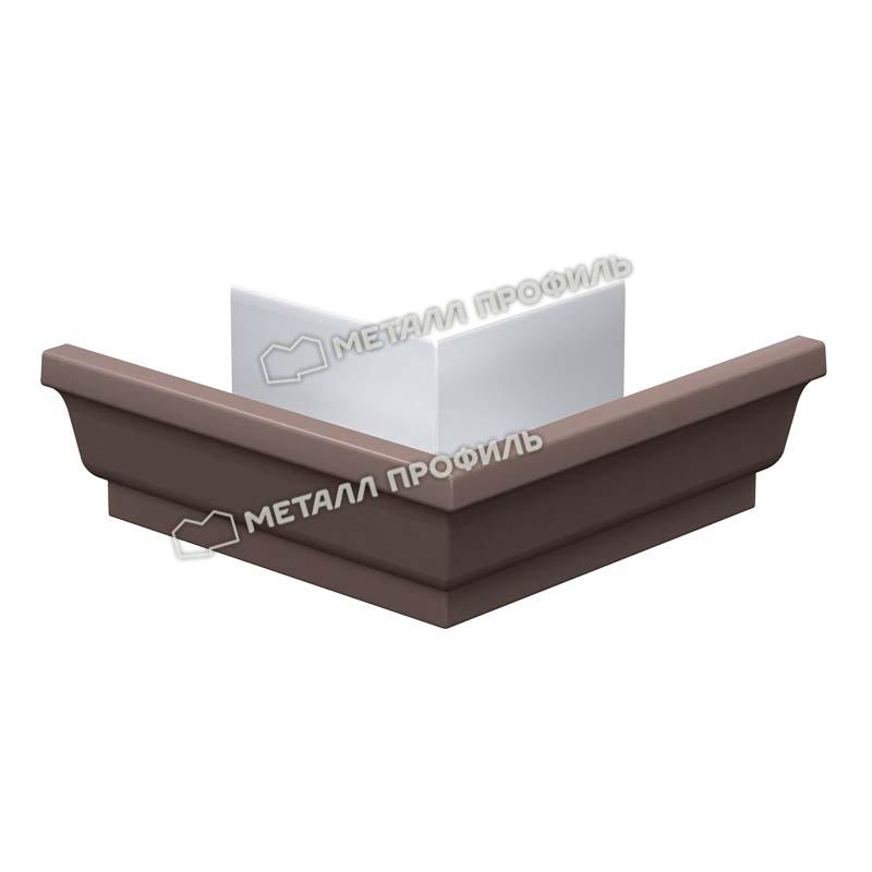 Угол желоба наружный Металл Профиль Бюджет 120x86, коричневый шоколад (RAL 8017)