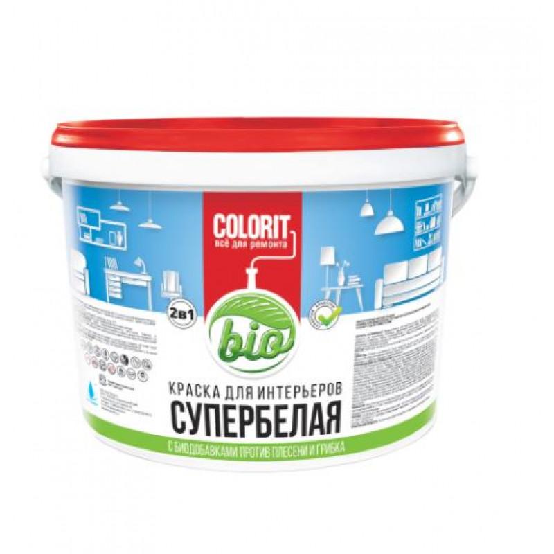 Краска COLORIT Bio для интерьеров супербелая 2,7 кг