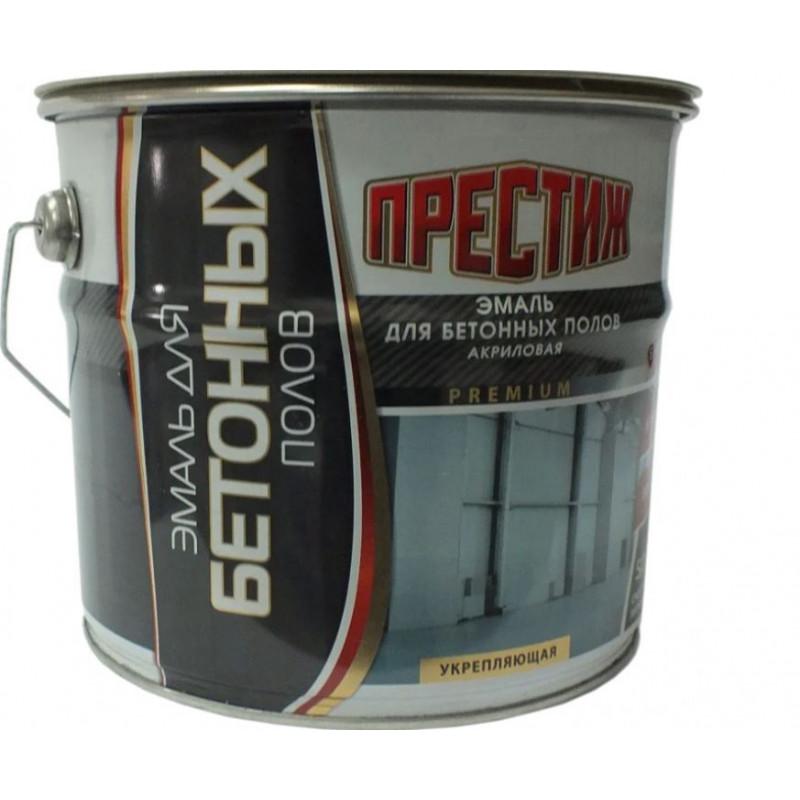 Декоративная эмаль Престиж для бетонных полов акриловая белая 4 кг