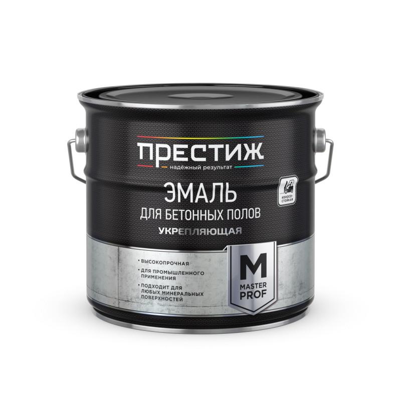 Эмаль Престиж для бетонных полов акриловая укрепляющая серая, 4 кг