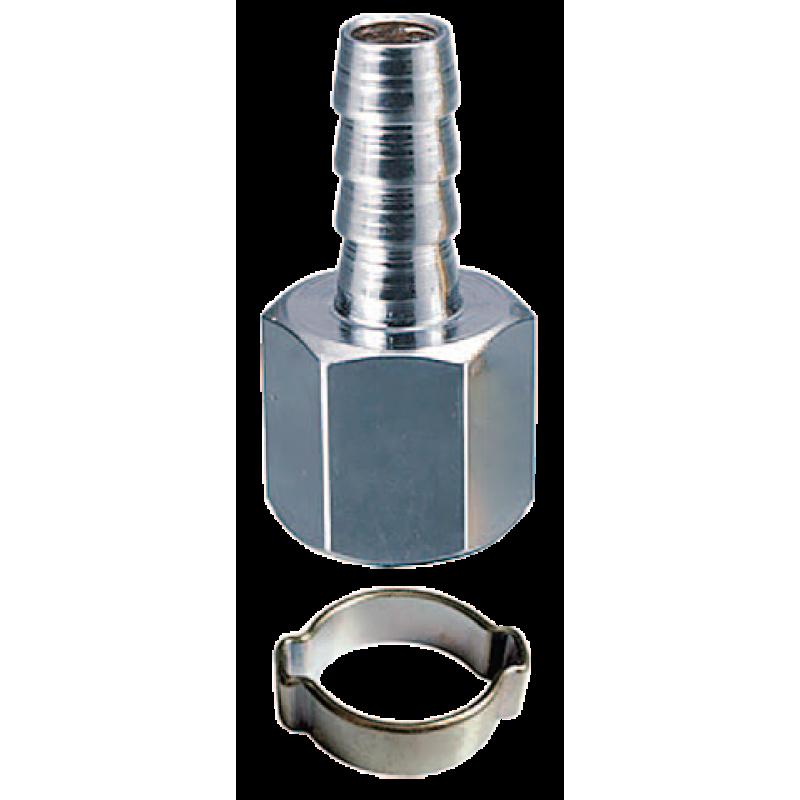 """Переходник Fubag 180252 1/4""""F на елочку 10 мм с обжимным кольцом 10х15 мм"""