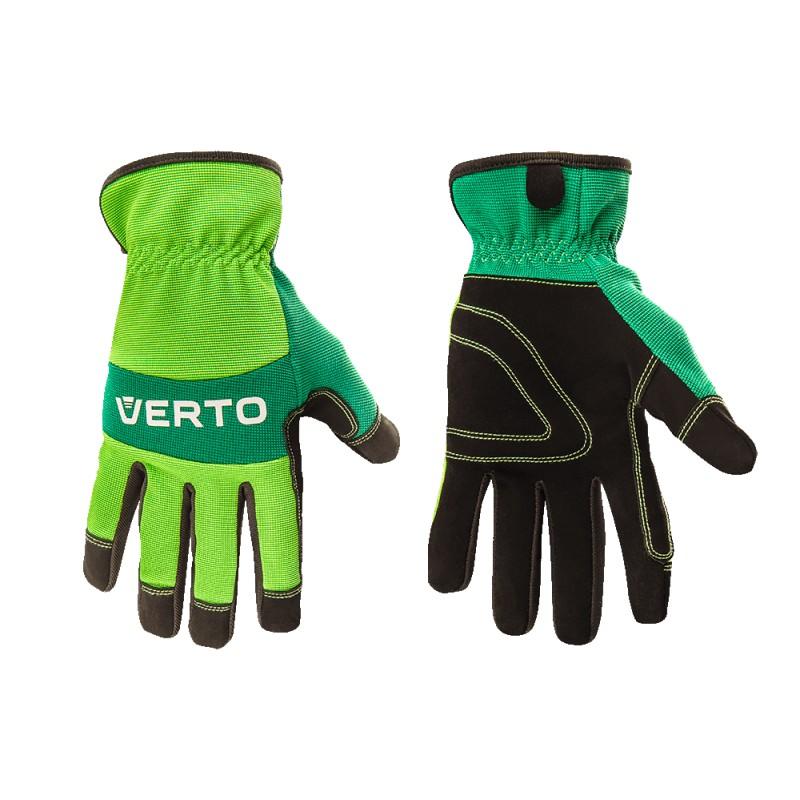 """Рабочие перчатки VERTO кожзаменитель, 8"""" 97H120"""
