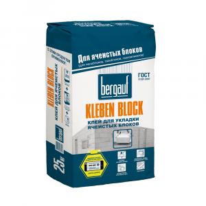 Клей для ячеистых блоков Kliber Blok 25кг