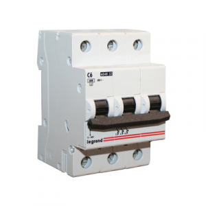 Legrand 3Р  6А Выключатель автоматический