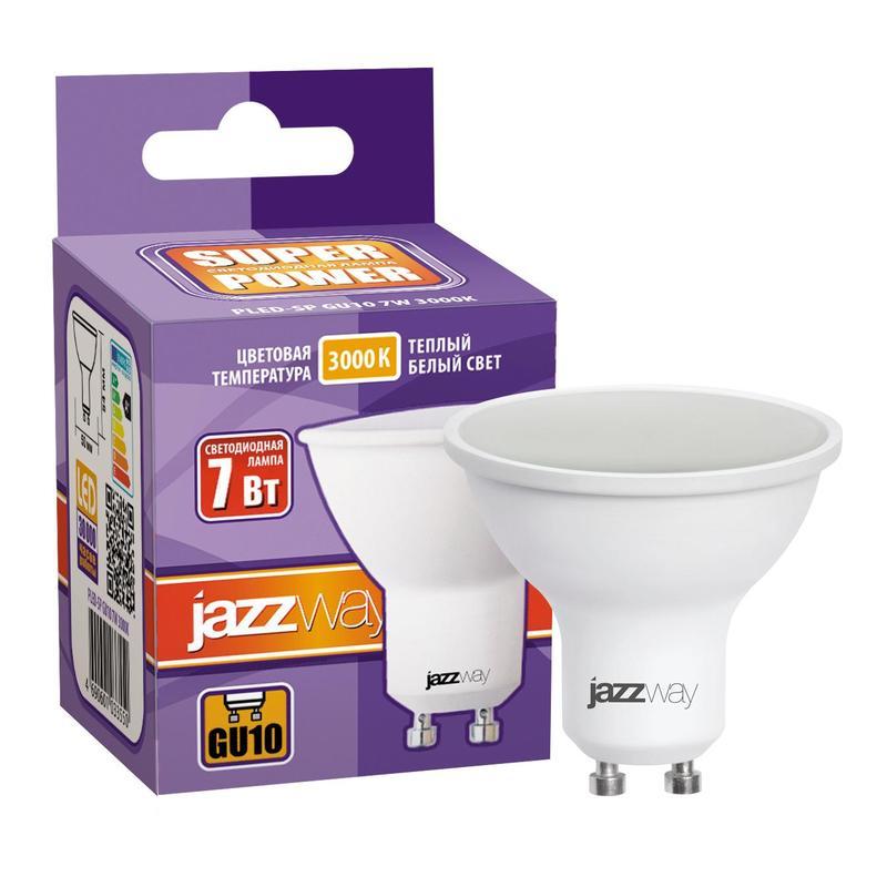 7Вт GU10 LED 3000K лампа JazzWay