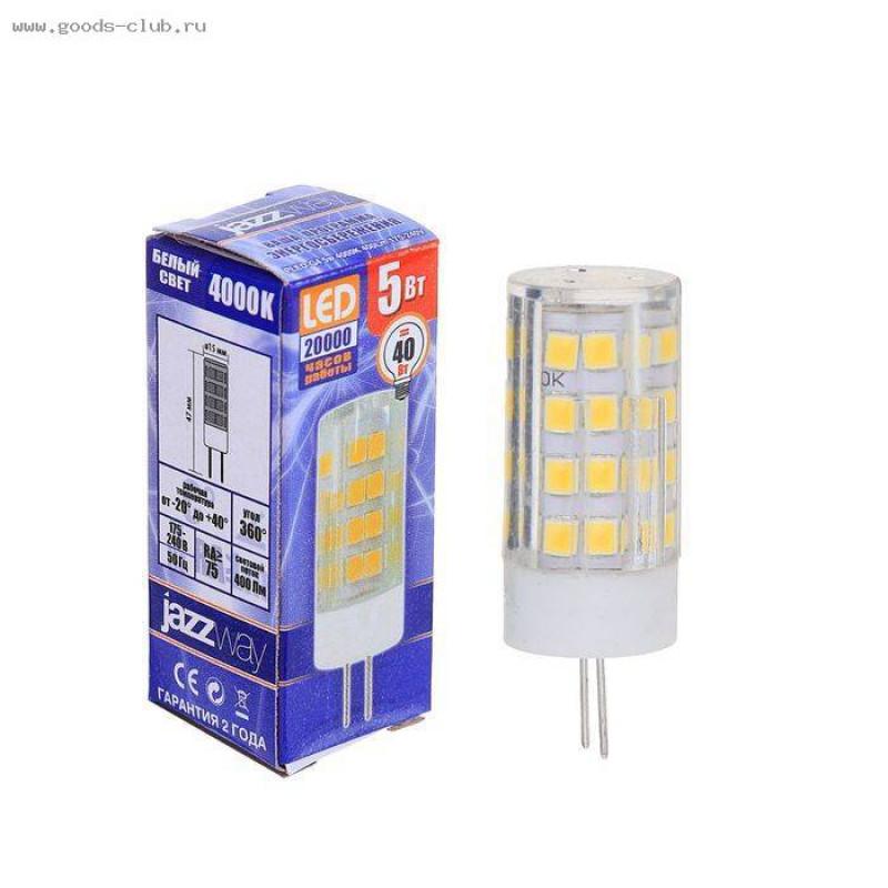 5Вт G4 LED 4000K лампа JazzWay