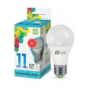 11Вт А60 Е27 LED (4000K,6500К) ASD