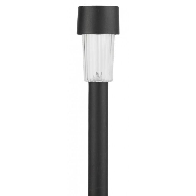 Садовый светильник на солнечной батарее, пластик, черный, 30 см