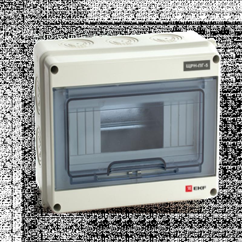 Щит распред. навесной ЩРН-ПГ- 5 (155х119х89) IP65 EKF