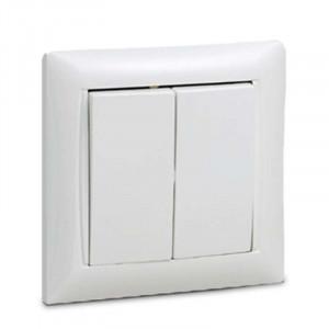 Валензо выключатель 2КЛ белый ASD