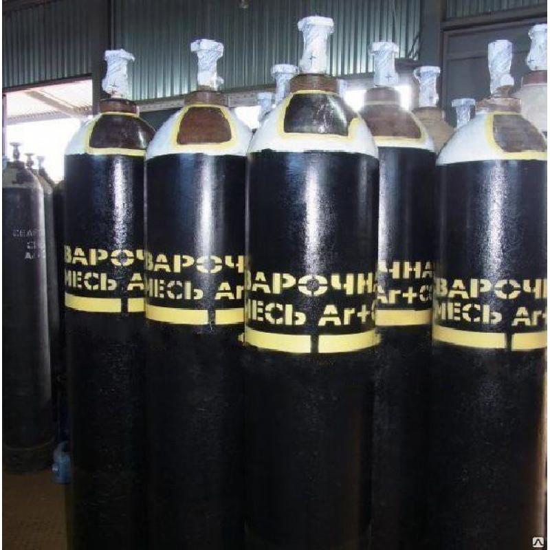 Смесь аргоновая газовая Ar-80% СО2-20% (40л 6,3м3) ТУ 21114-001-97751871-2014