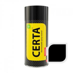 Эмаль CERTA аэрозоль 520мл черная термост. до 900С