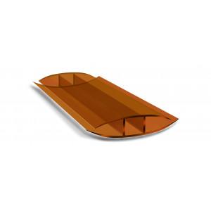 Профиль соединительный неразъемный коричневый (6м)