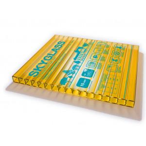 Поликарбонат  6мм  шир. 2,1 м желтый