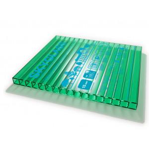 Поликарбонат 10мм шир. 2,1 м зеленый