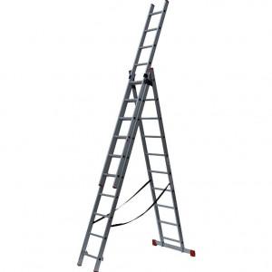 Лестница универсальная 3х12ст (339/589/843 х 25,7кг) ПРОФИ